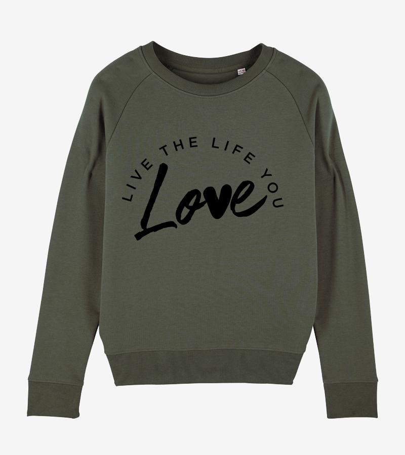 Womens Eco Organic Cotton Sweatshirt | Organic Sustainable Clothing